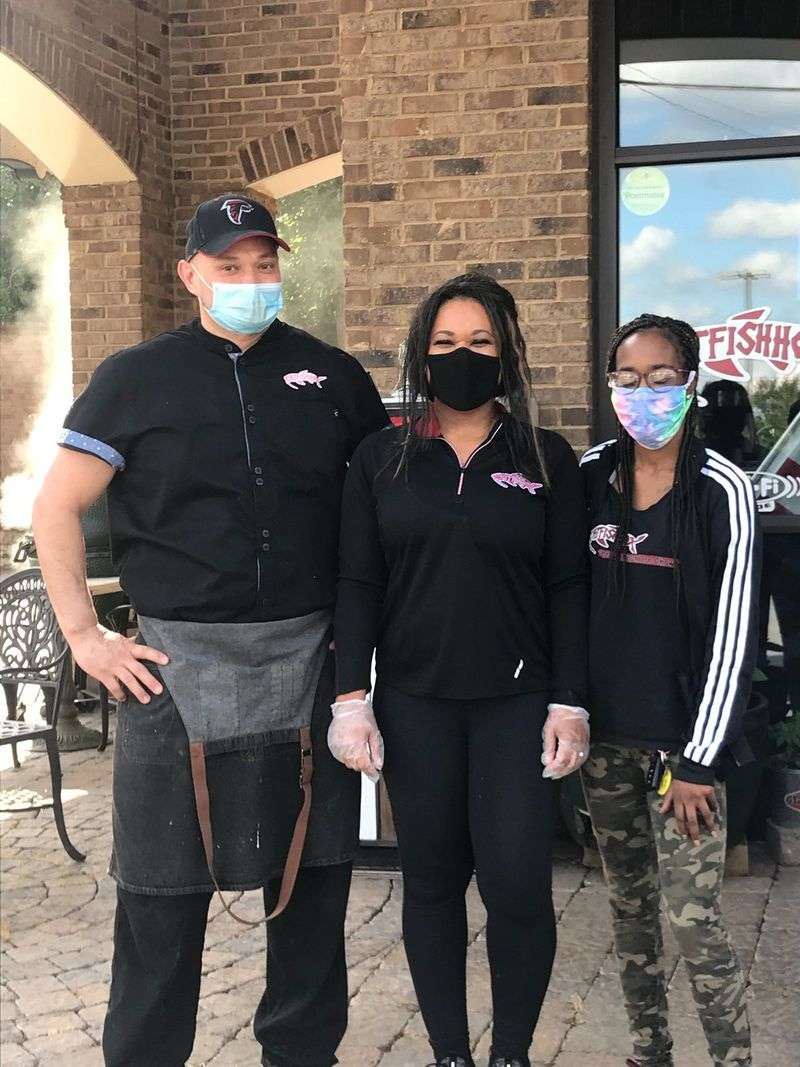 owners wearing masks