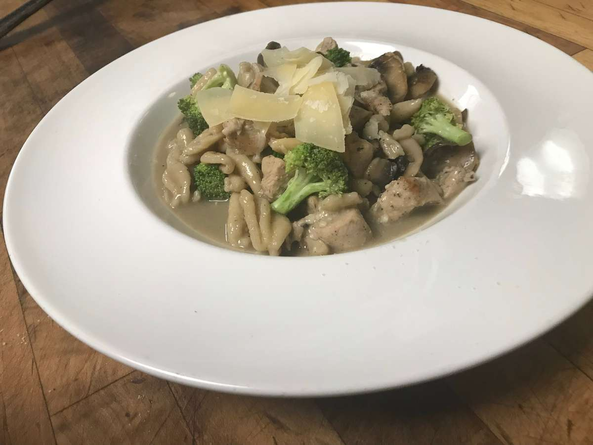 Cavatelli, Brocolli and Mushrooms