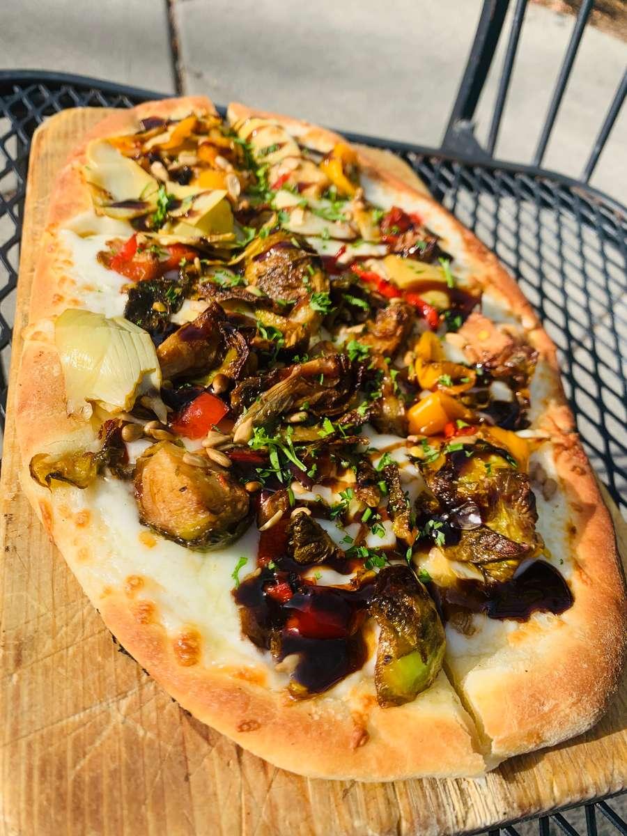 Fire Roasted Vegetables, Pinenuts & Mozzarella