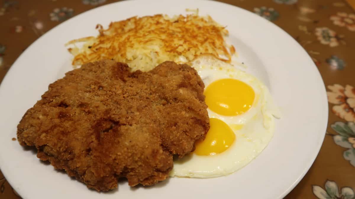 1/2 lb Kountry Fried Steaks & 2 Eggs