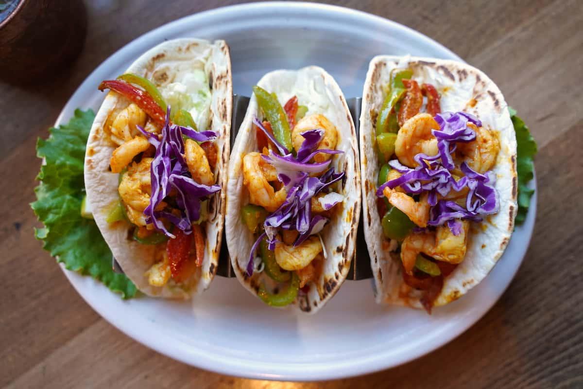 New Delhi Shrimp Tacos