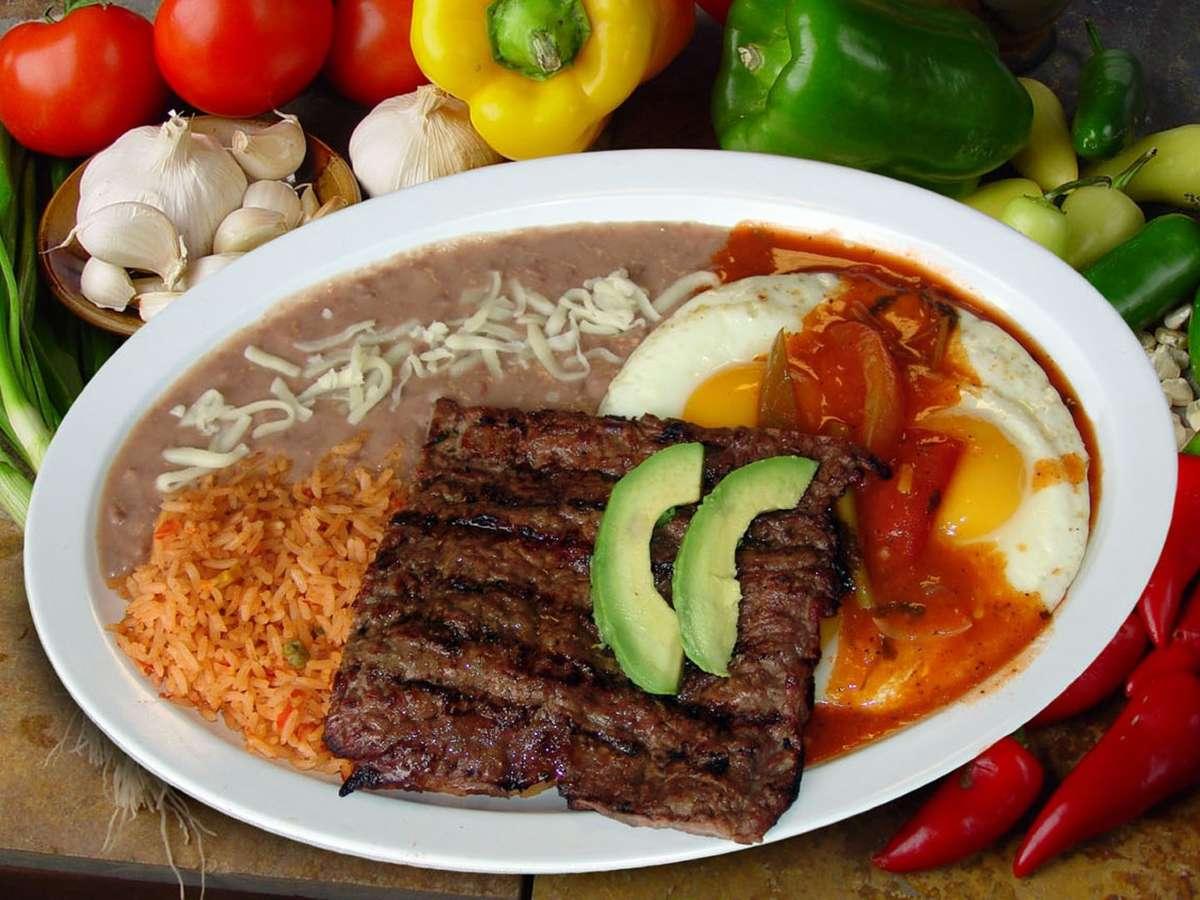 #18 Huevos Rancheros with Steak