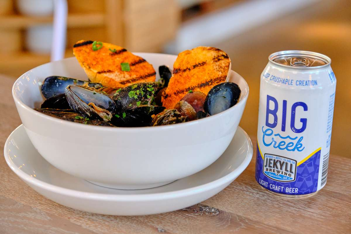 *Steamed Mussels