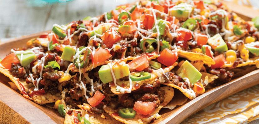 Mini Beef Burritos/ Nachos Platter