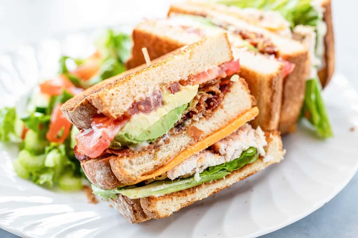 Turkey & Ham Club with Avocado
