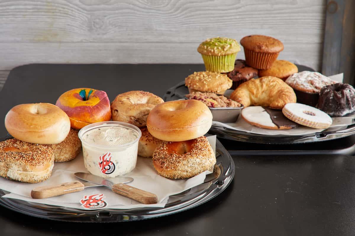 JV bagels assorted foods