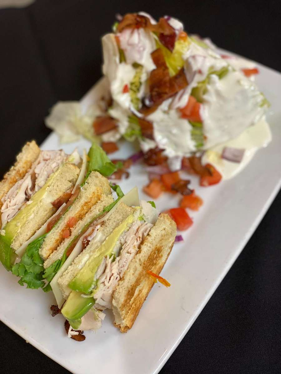 Half Sandwich with Side Salad