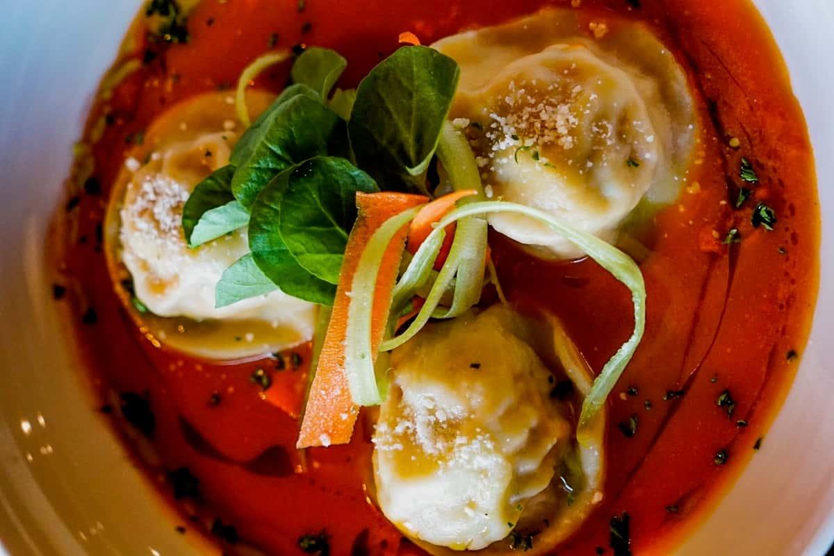 Homemade Ravioli in Sauce