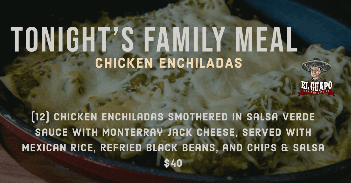 Chicken Enchiladas Family Meal