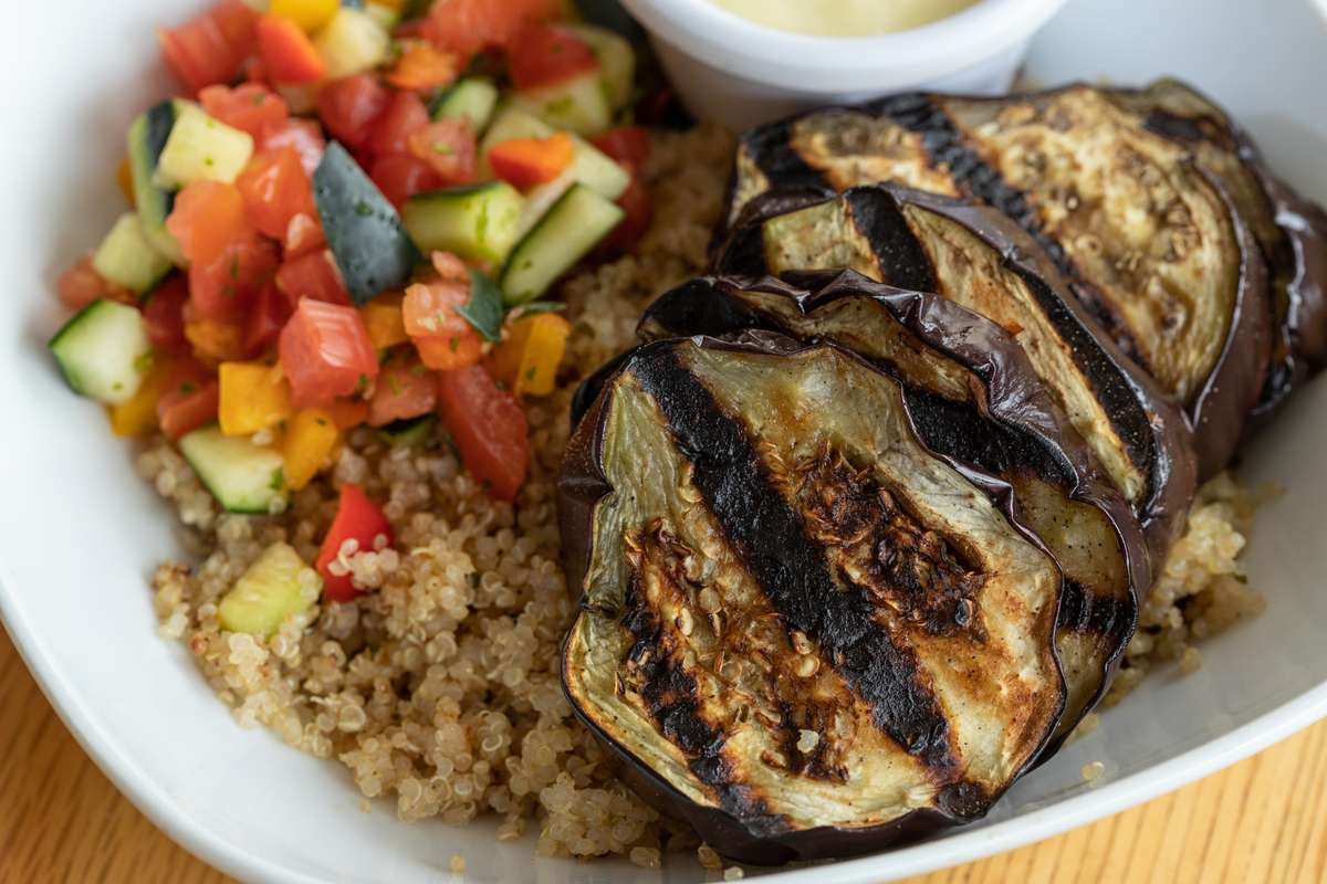 Garlic-Roasted Eggplant - Bowl