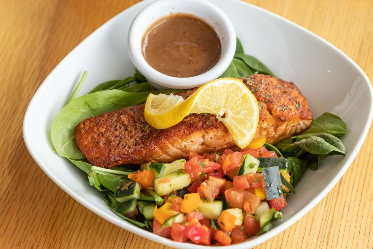 Salmon with Harissa Butter - Bowl