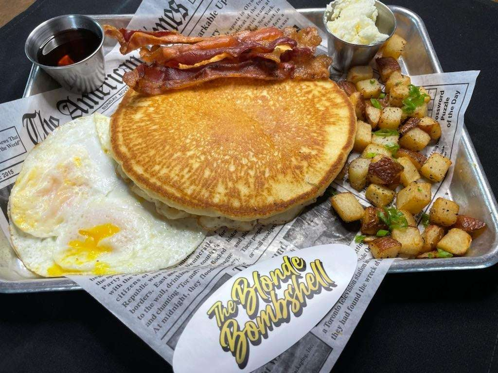 Bacon, Eggs and Texas Pancake