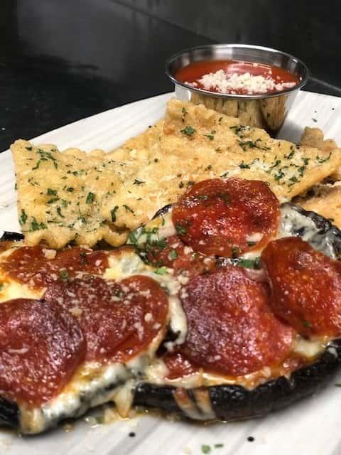 Portabella Mushroom Pizza Caps