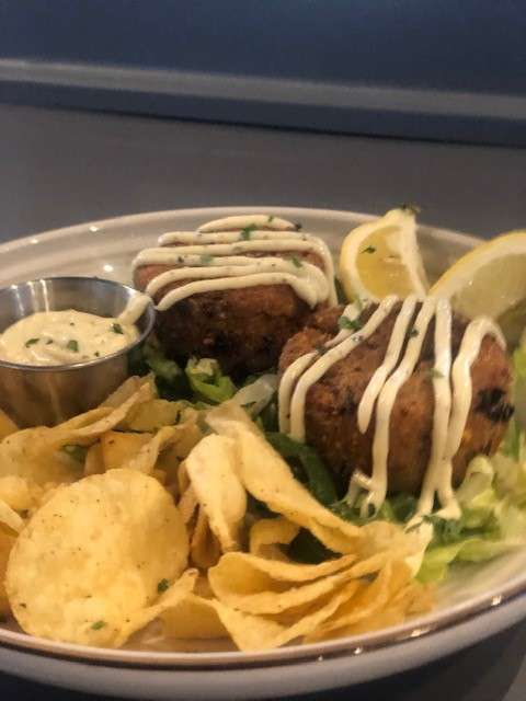Kettle Chip Crab Cakes