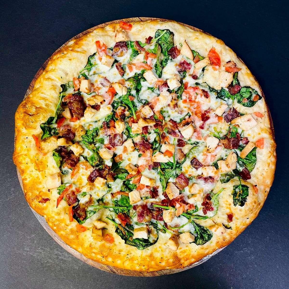 Spinach Chicken Pizza