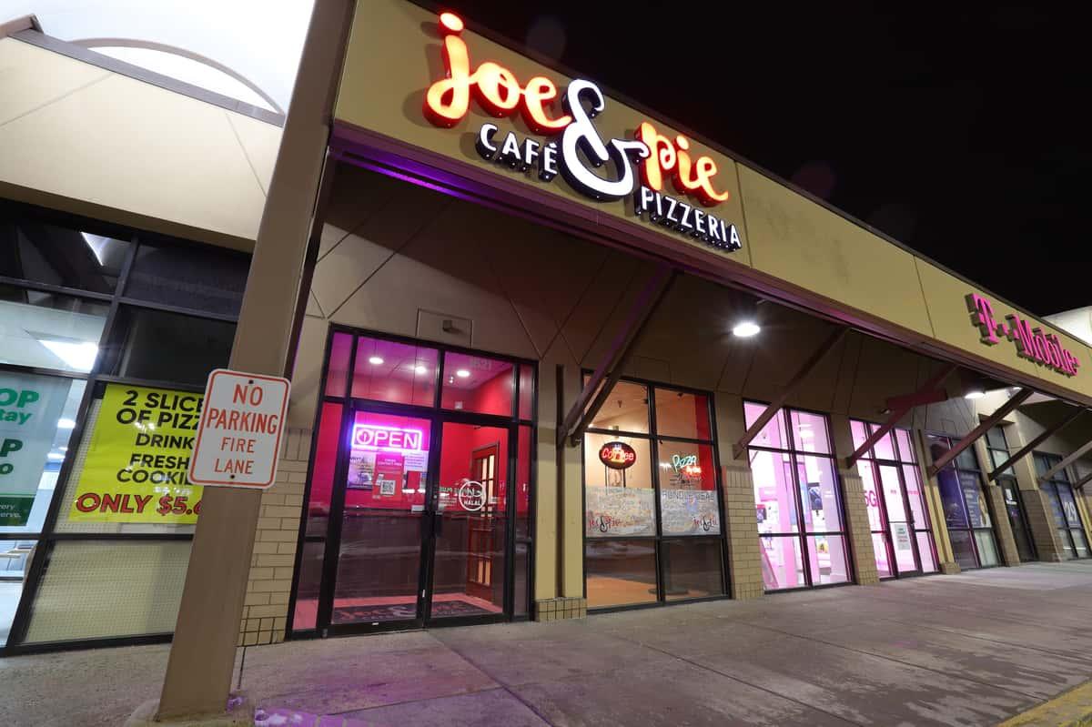 Exterior of Joe & Pie Cafe Pizzeria