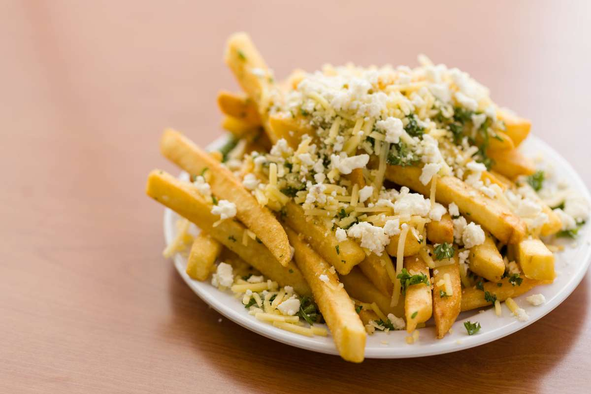 Mediterranean Fries at Chicken Dijon in Torrance