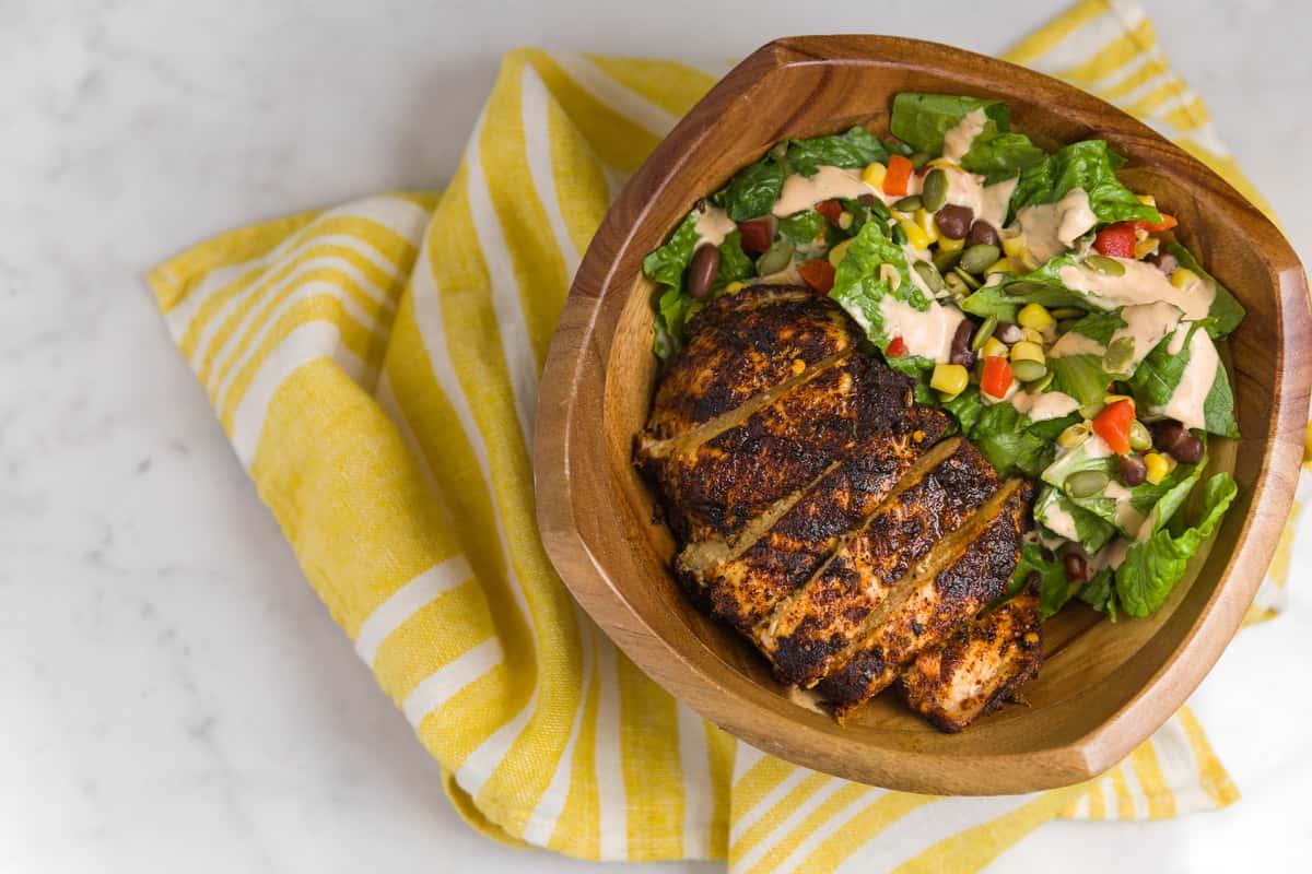 Smoky Chicken Caesar Salad