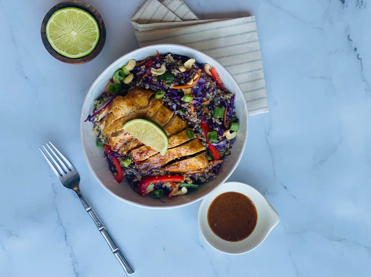 Chicken and Quinoa Crunch bowl