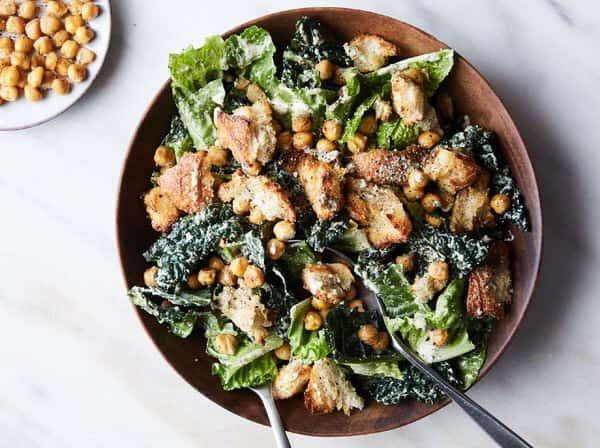Kale Chicken Ceasar Salad