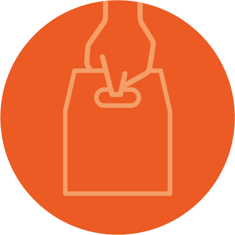 grabbing a food bag