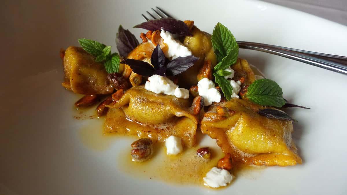 House Made Honey Roasted Carrot Agnolotti
