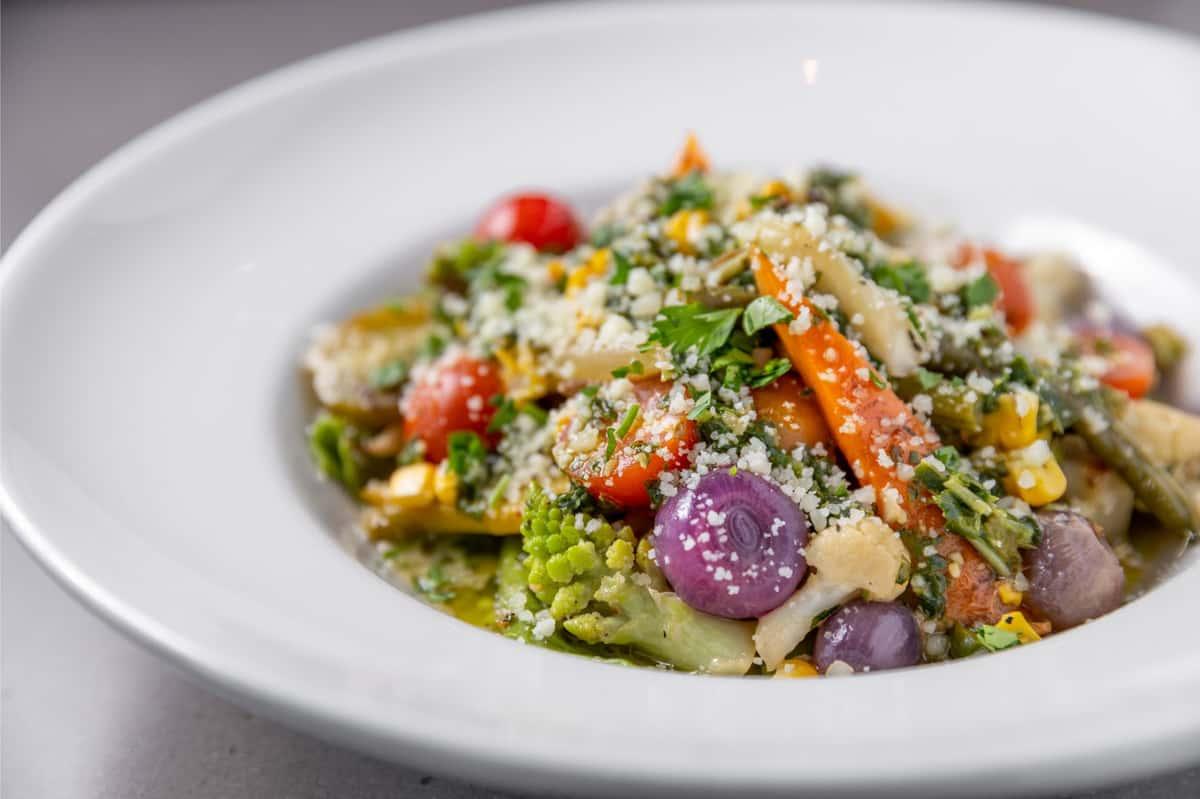 Heirloom Vegetables & Herb Pappardelle Pasta