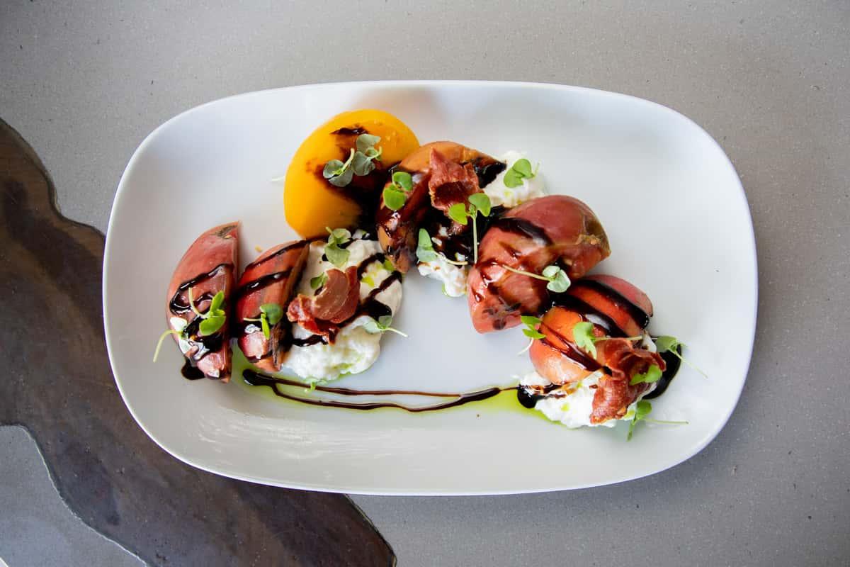Heirloom Tomato & Grilled Peach Salad