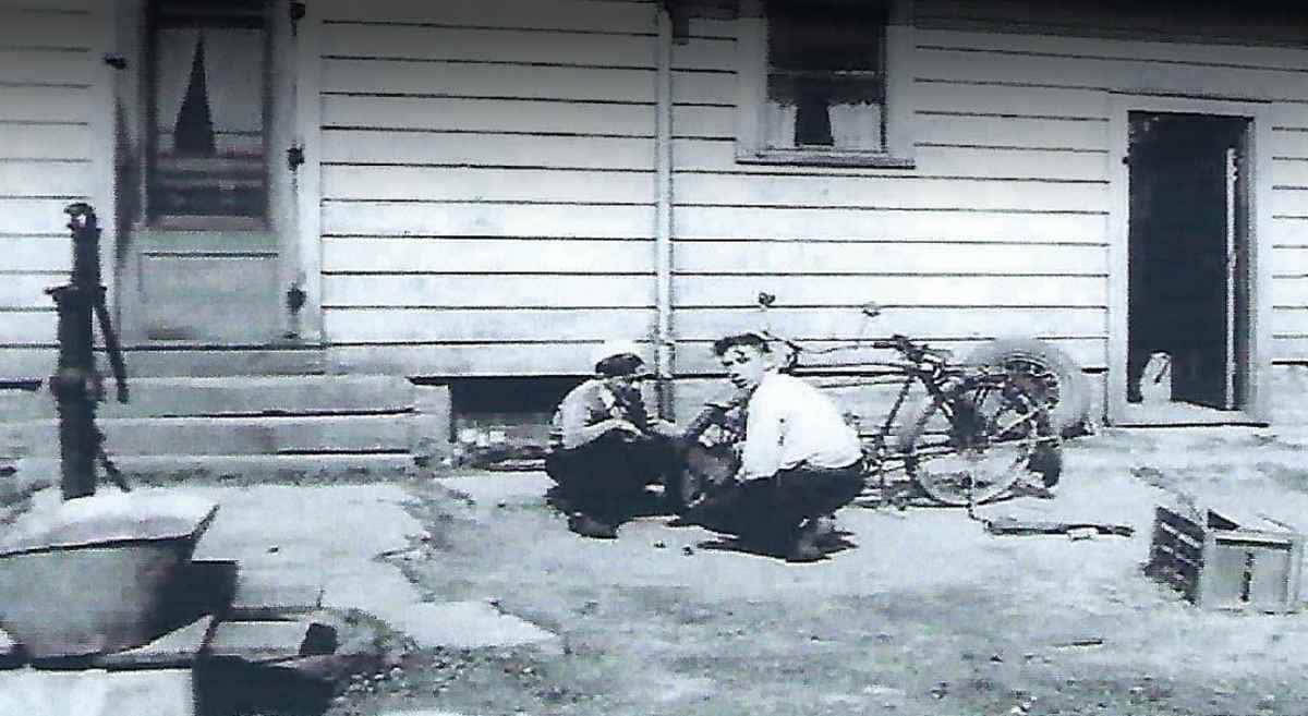 ben & bob fixing a bike