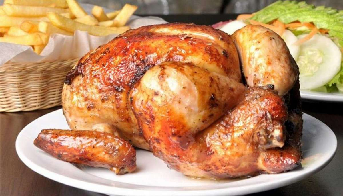 Whole Chicken Including Fries & Salad