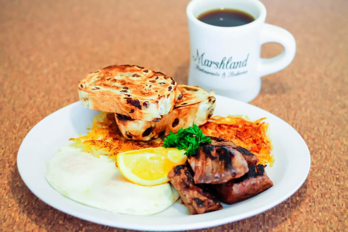 Grilled Steak Tips & Eggs