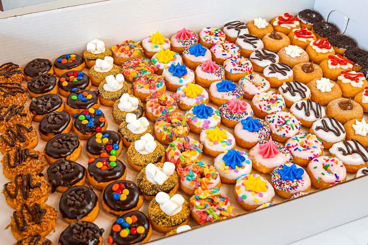 mini donut spread