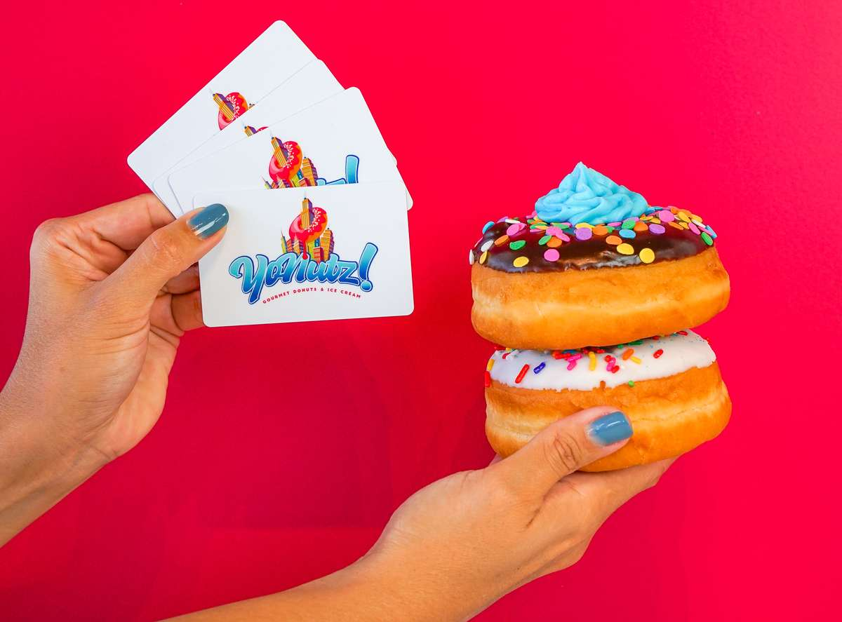 gift cards and donuts