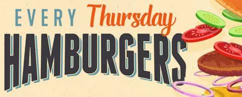 Every Thursday Hamburgers