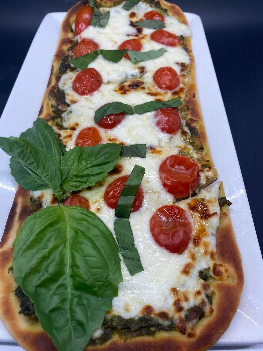 Pesto And Burrata Cheese
