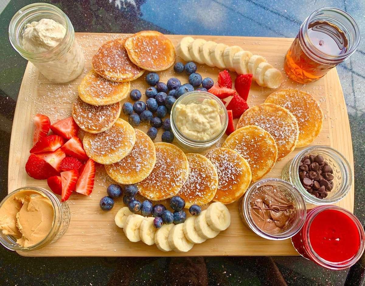 Pancake Charcuterie Board