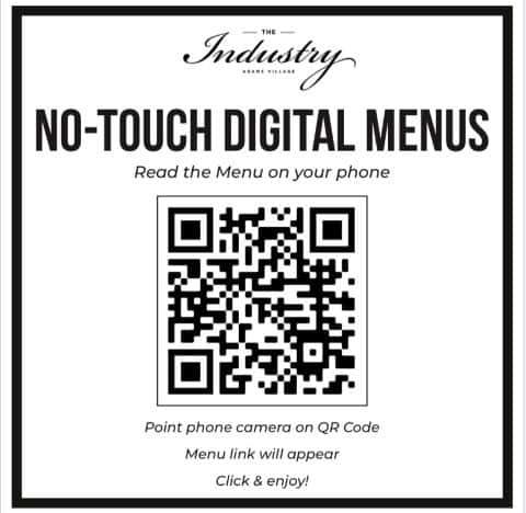 contactless menus