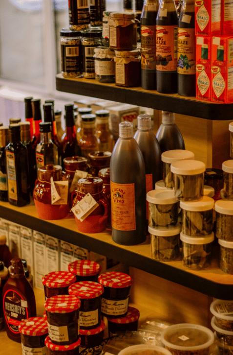 Shelf of wine