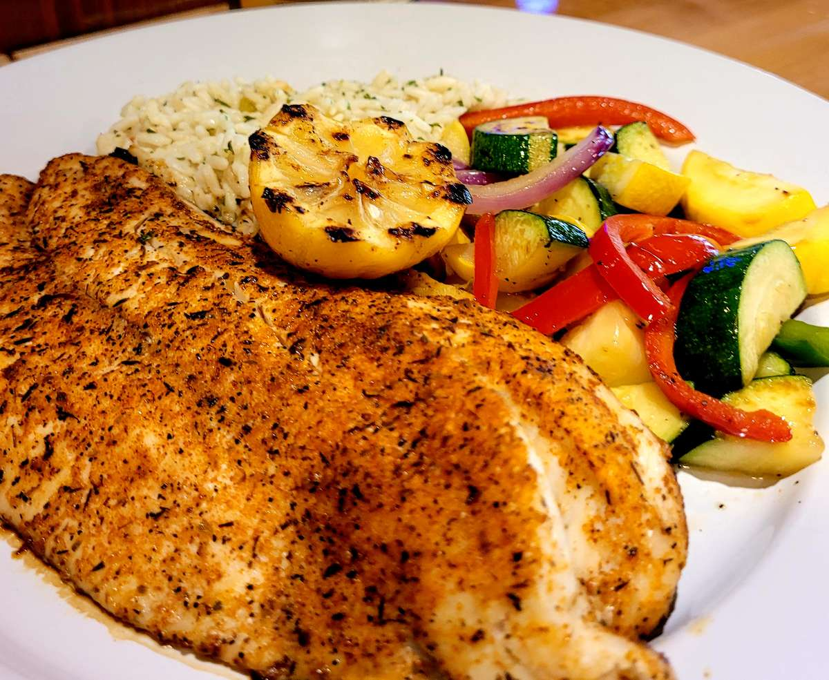 Grilled Red Fish Dinner