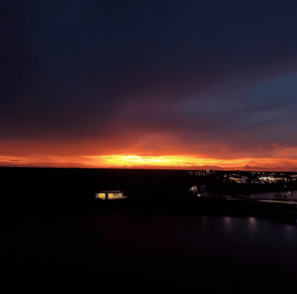 Beautiful Sunset from top of finish tower at Nathan Benderson Park