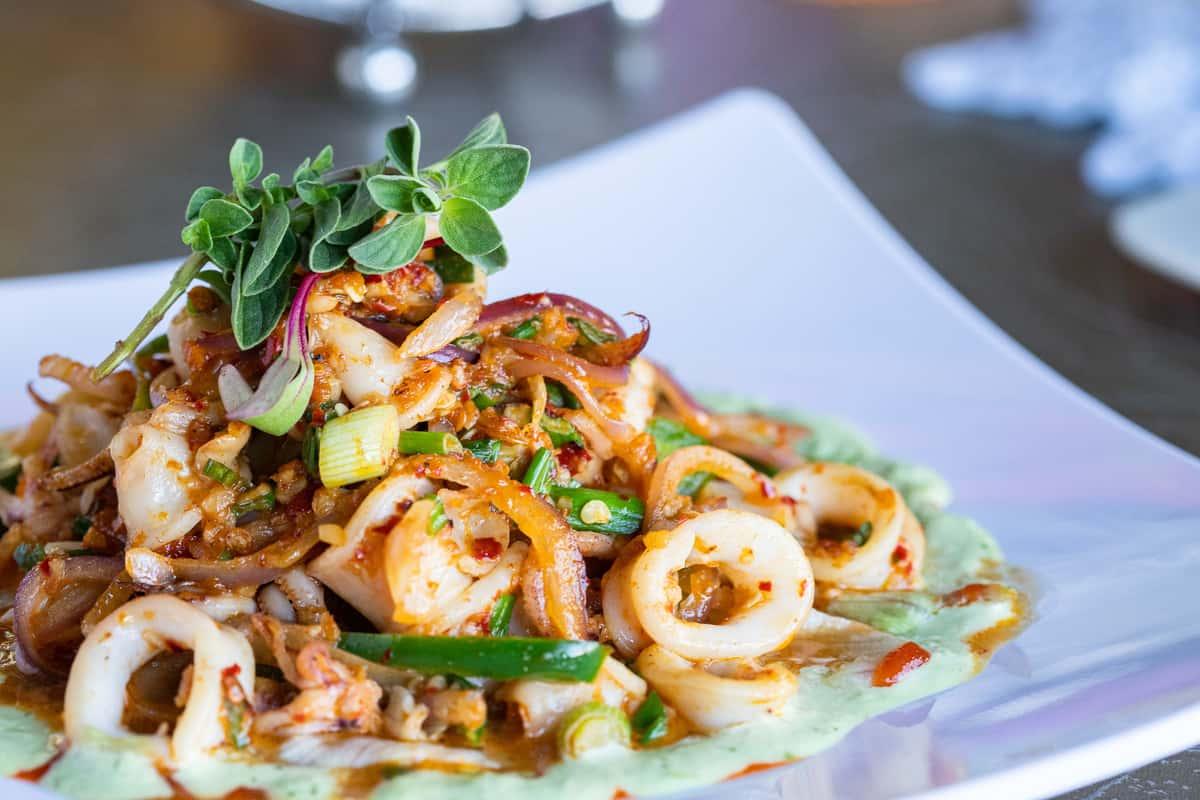 Spicy Garlic Calamari