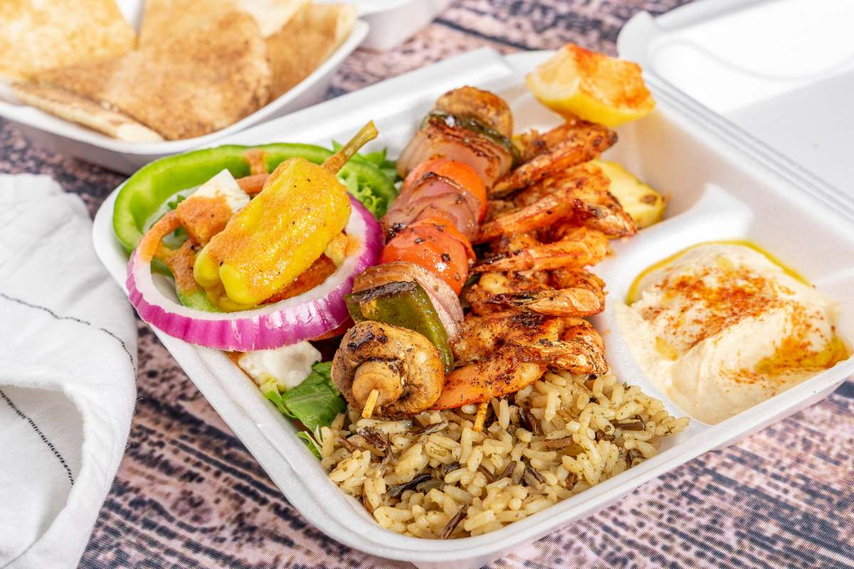 Shrimp Kabob Dinner