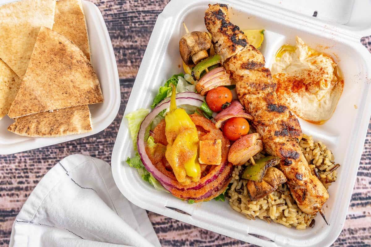 Chicken Kabob Lunch