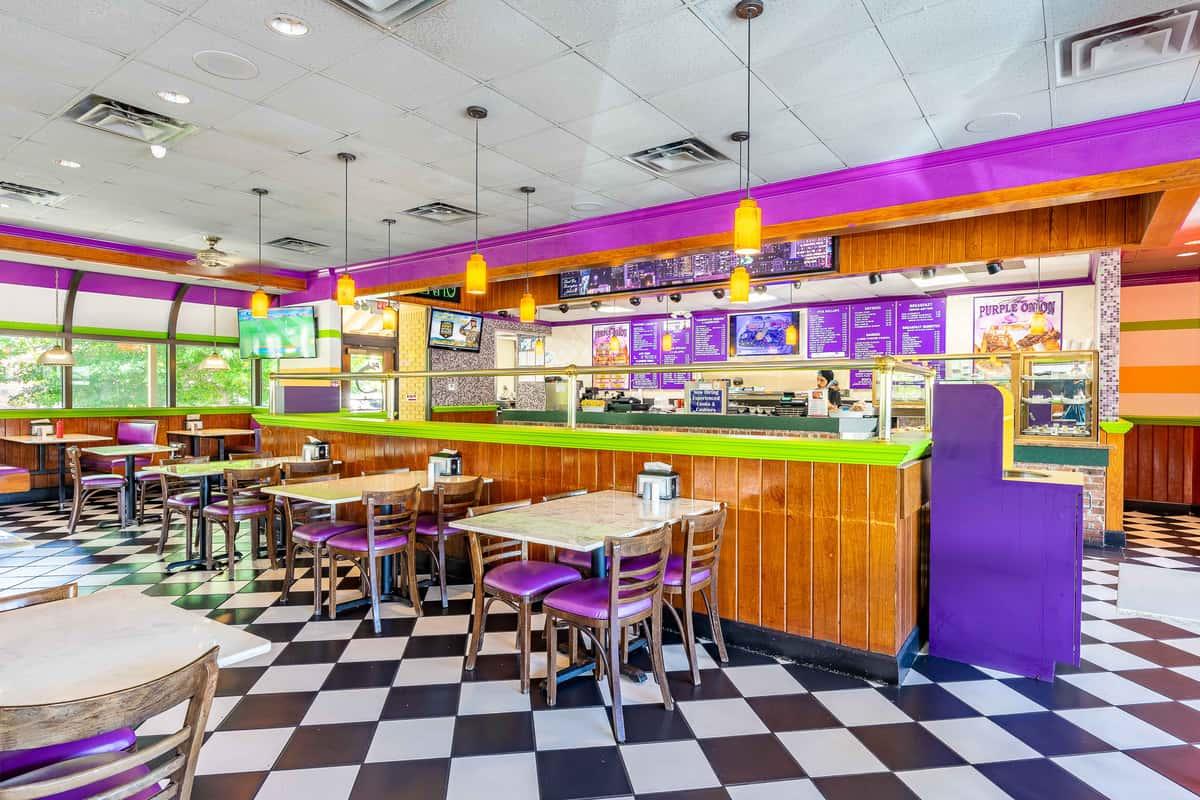 interior of purple onion