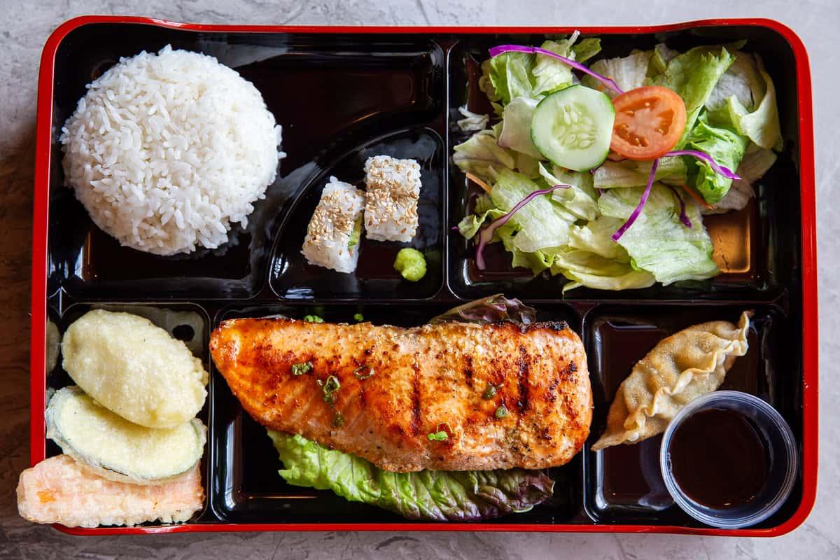 L-6 Salmon Teriyaki Box
