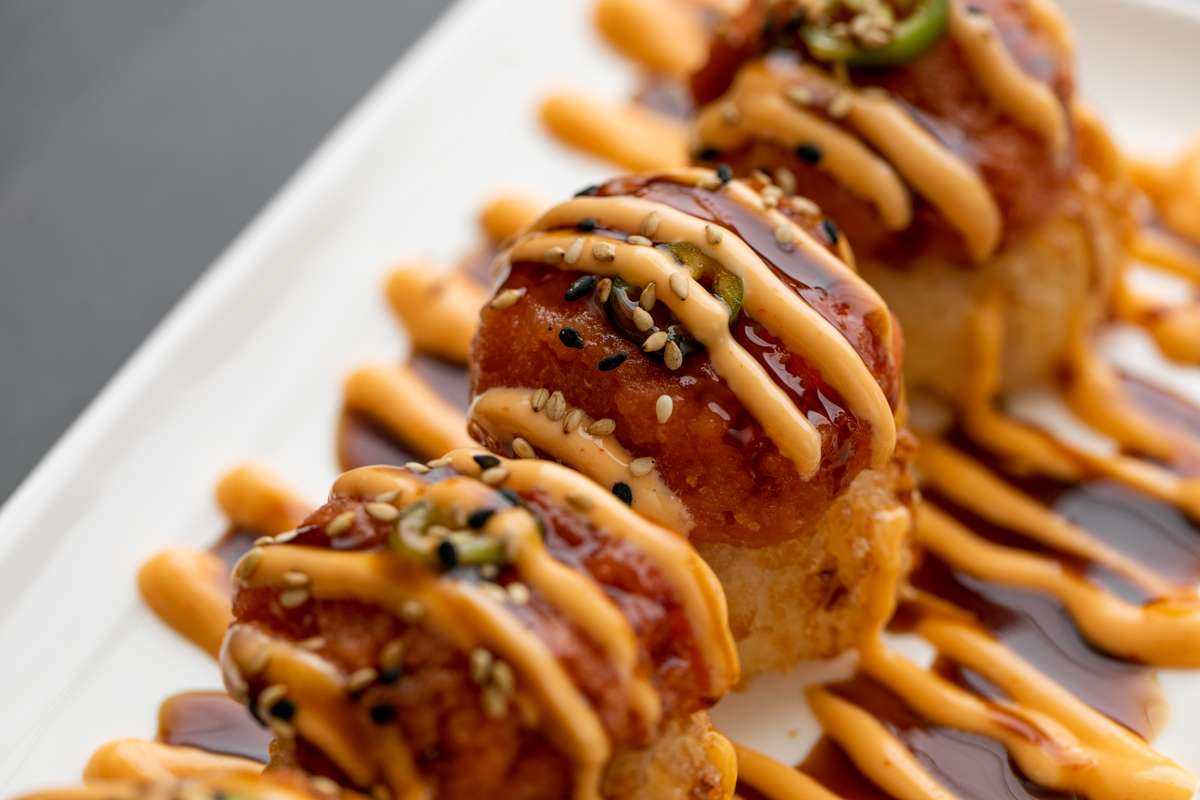 Spicy Tuna Over Crispy Rice (4 Pieces)