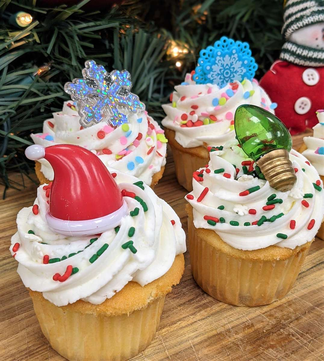 Assorted Holiday Cupcake Designs