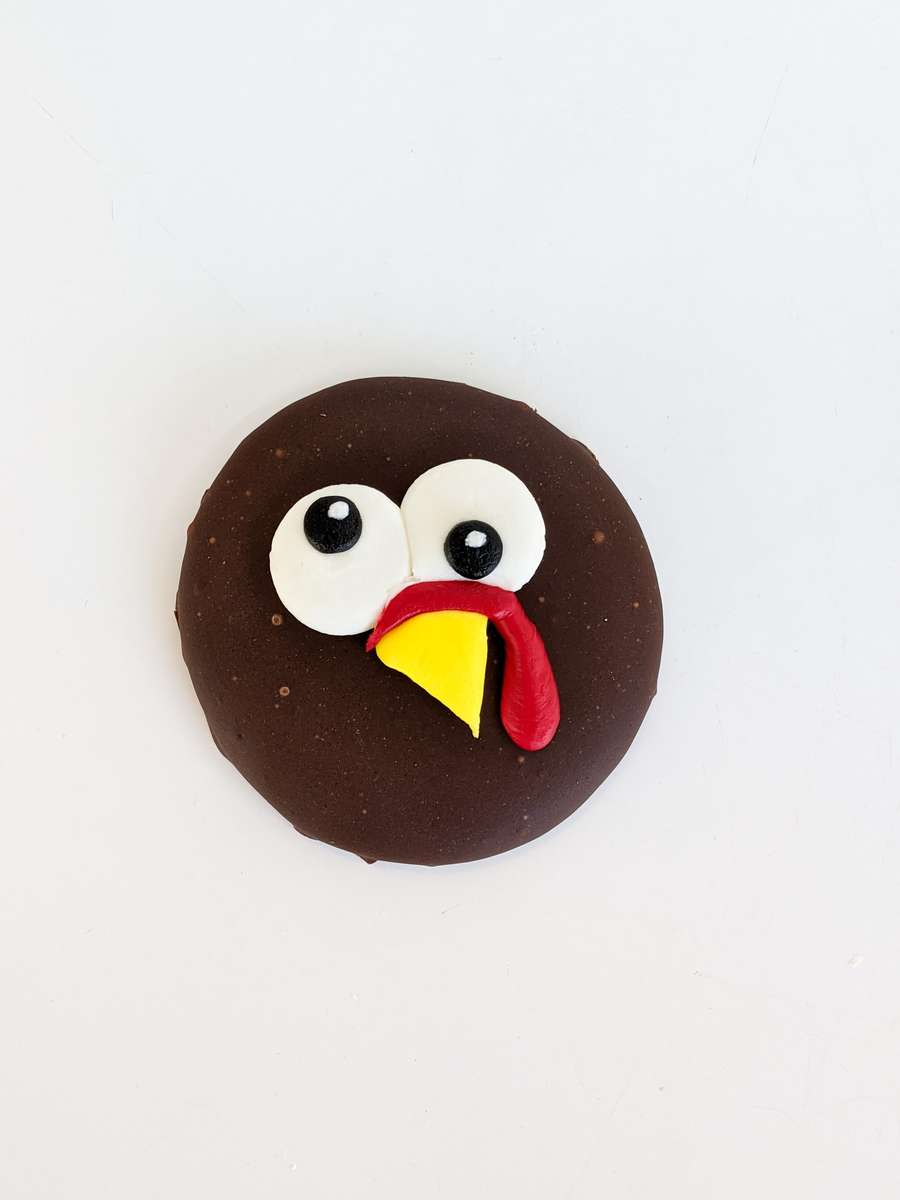 Thanksgiving Turkey Piped Cookie