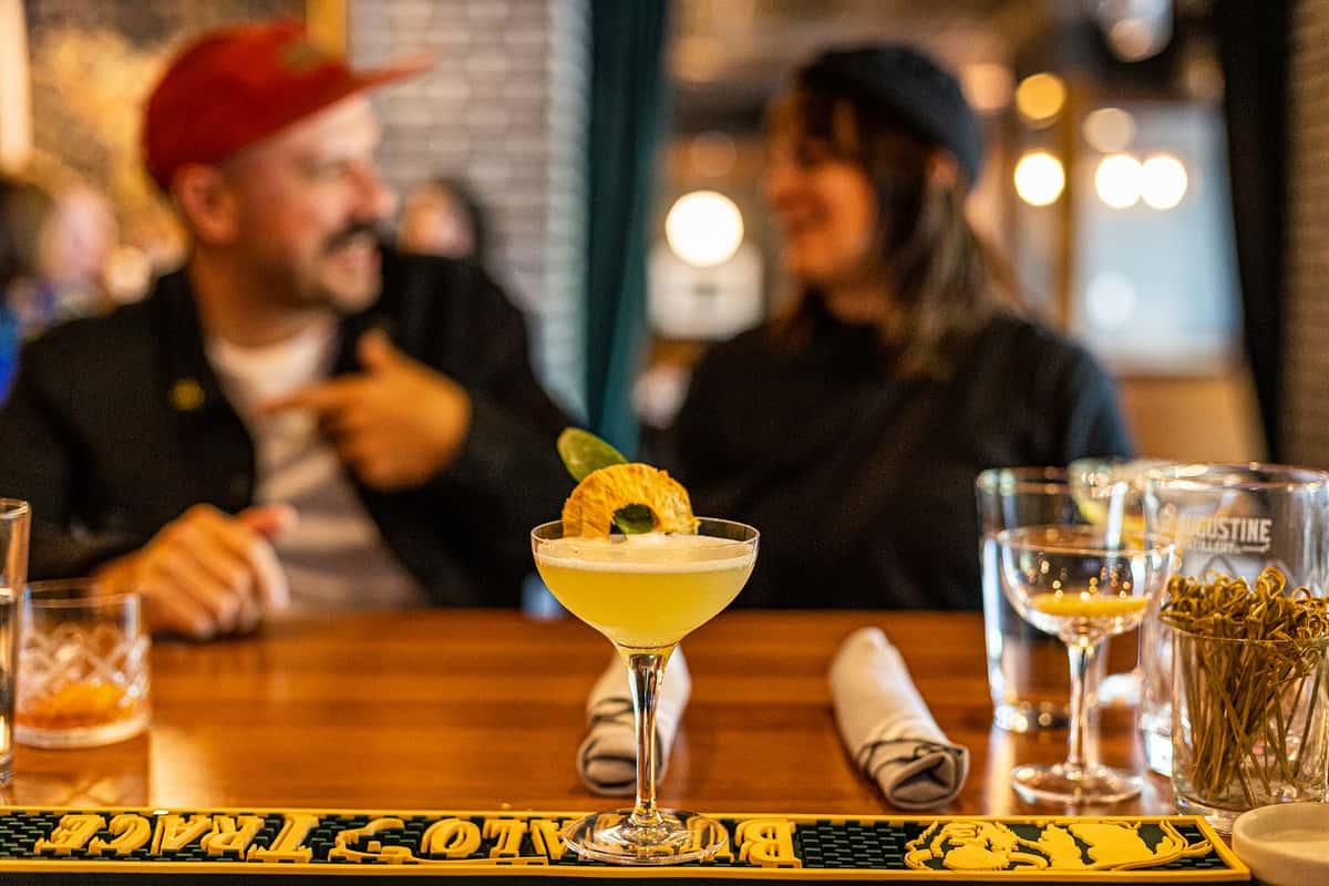 people behind cocktail