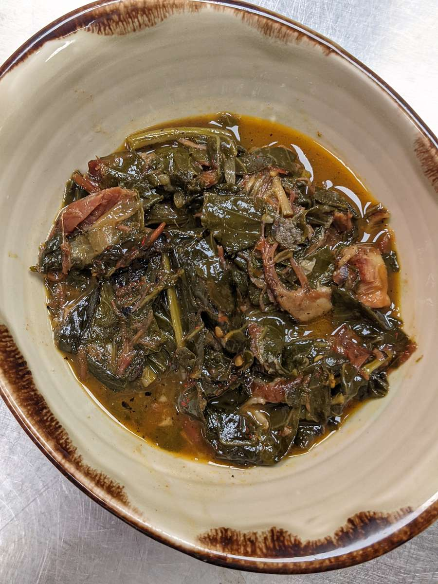 Sweet Braised Greens with Bacon
